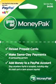 Money Pak Pre Paid Card